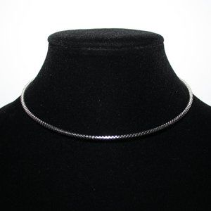 Beautiful silver coil necklace choker 17""